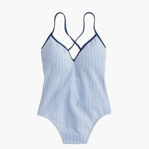 J. Crew Swim - J. Crew Lace-up back one-piece swimsuit